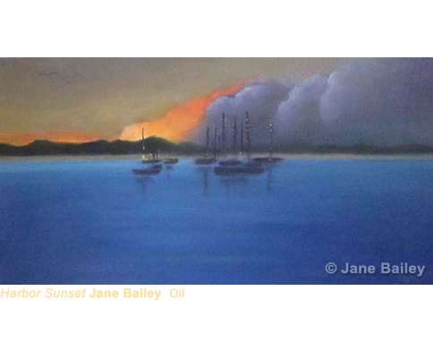 Harbor Sunset by Jane Bailey